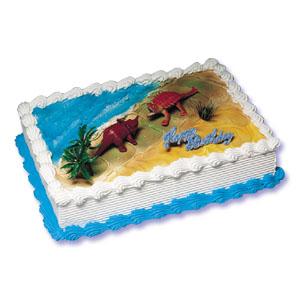 Dinosaur Cake Decorating Instructions