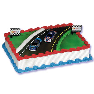 Nascar Martin - Kenseth Cake Decorating Instructions