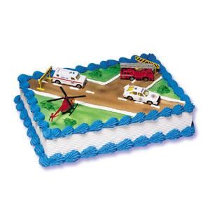 Emergency Vehicles Cake Decorating Instructions