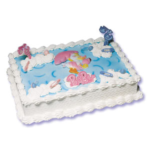 Cake Decorating For Baby Boy : Baby Shower - Stork