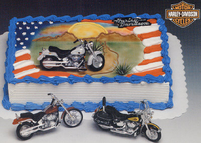 Harley Davidson Motorcycles Cake Decorating Instructions