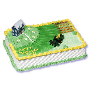 John Deere Lawn Tractor Cake Decorating Instructions