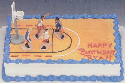 Groovy Basketball Players Boys Cake Decorating Instructions Funny Birthday Cards Online Kookostrdamsfinfo