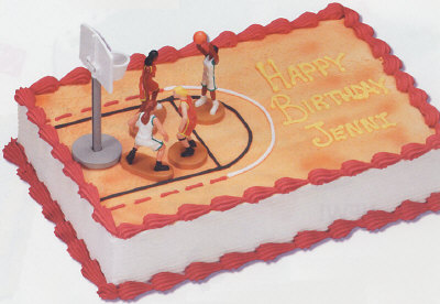 Basketball Court Basketball Cake