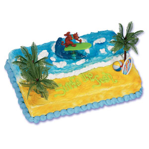 Scooby-Doo Surfer Cake Decorating Instructions