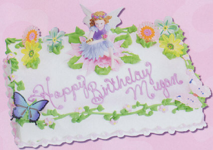Gardening Fairy Cake Decorating Instructions