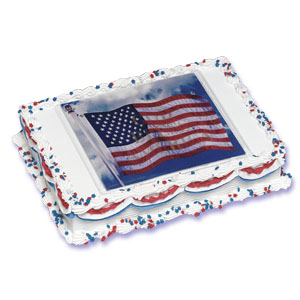 Cake Decor Flags : American Flag Xtreme Cake Decorating Instructions