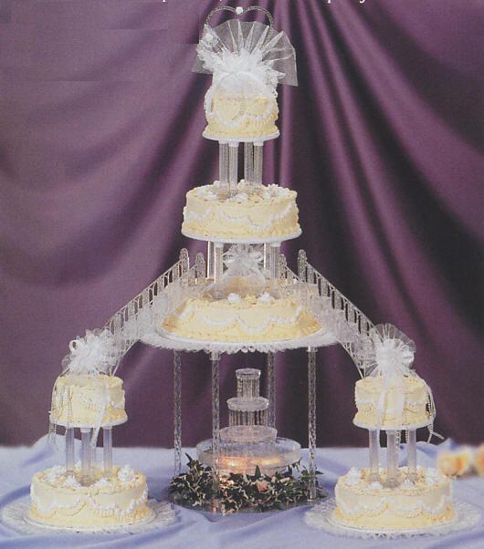Cake Decorating Fountain Of Paradise Wedding