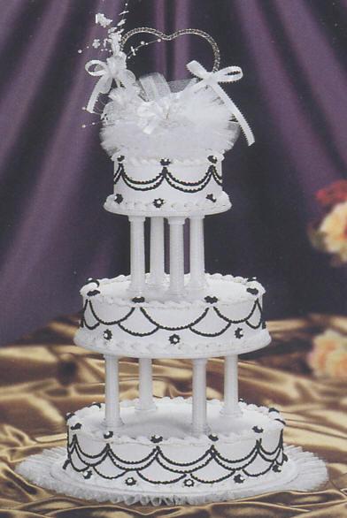 Simply Black White Wedding Cake Kit Ak 160 Wedding Cake Decoration