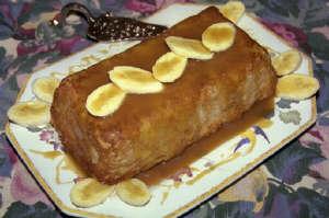 Banana Rum Bread Pudding with Rum Caramel Sauce