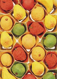 Fruit Shaped Marzipan Cookies